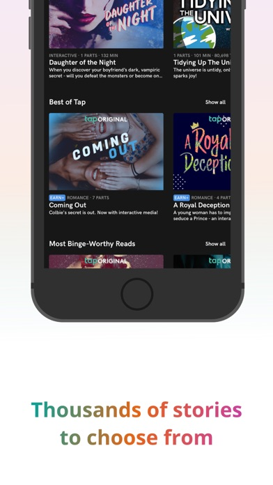 Tap by Wattpad wiki review and how to guide