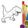 Coloring Book - Draw Dinosaur
