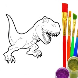 Coloring Book - Draw Dinosaur