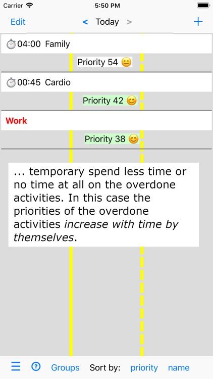 Activities and Priorities screenshot-3