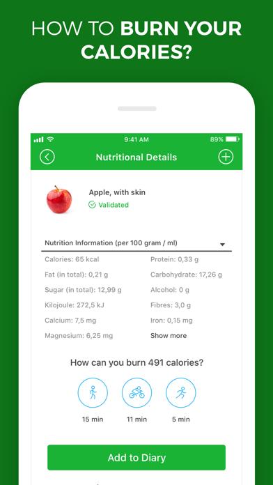 Calorie, Carb & Fat Counter screenshot two