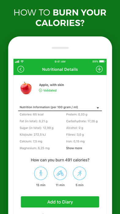 Calorie, Carb & Fat Counter screenshot two