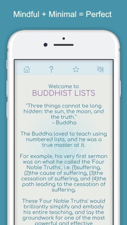 Buddhist Lists