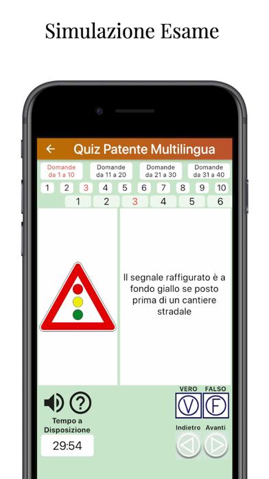 Screenshot of QuizPatente Multilingua2