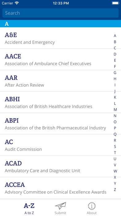 NHS Acronym Buster screenshot one