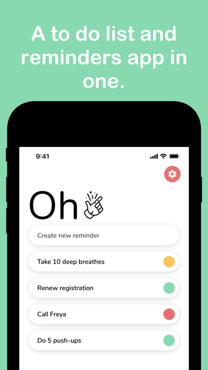 Oh Snap Quick Daily Reminders – iOS تطبيقات — AppAgg