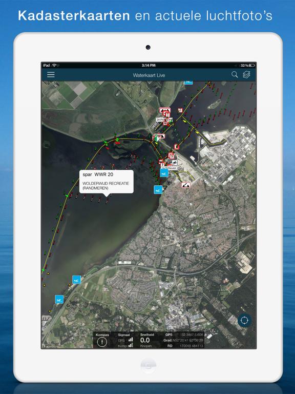 Waterkaart Live iPad app afbeelding 5