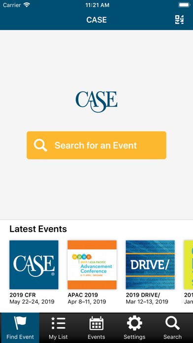 CASE Conference App screenshot two