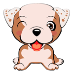 Cute Bulldog Sticker Pack