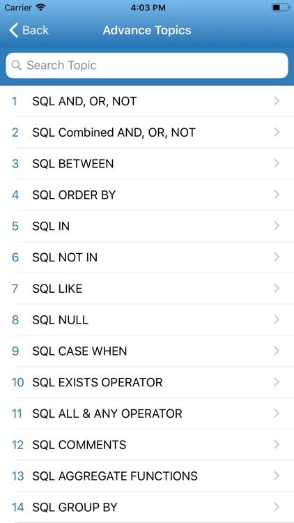 Learn SQL Programming screenshot-3