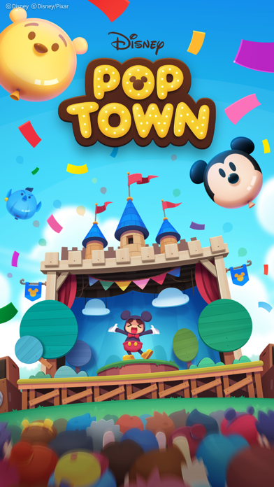 最新スマホゲームのディズニーポップタウンが配信開始!