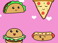 Kawaii Food Stickers