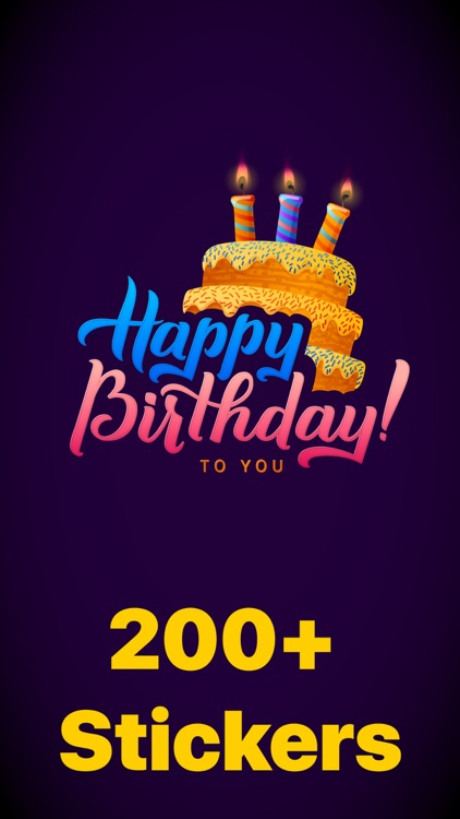 200+ Birthday MEGA Sticker App