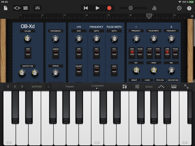 ‎OB-Xd AUv3 Synth Screenshot