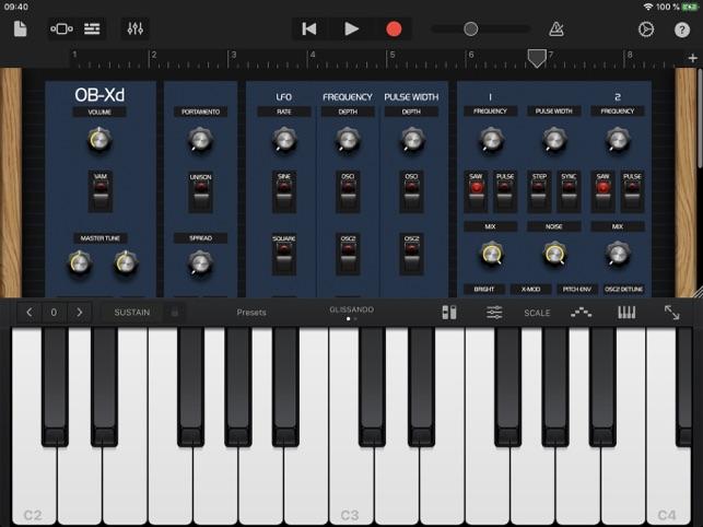 OB-Xd AUv3 Synth Screenshot