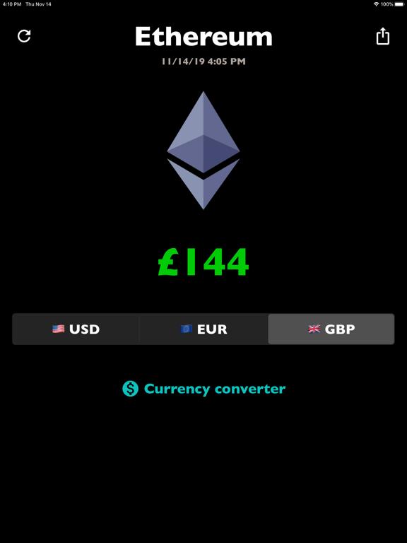 Ethereum price ETH rate live