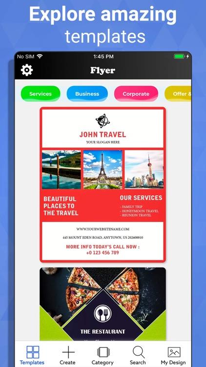 Flyer Maker - Graphic Designer screenshot-3