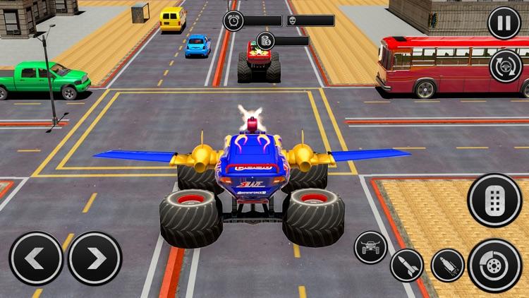 Flying Monster Truck Derby