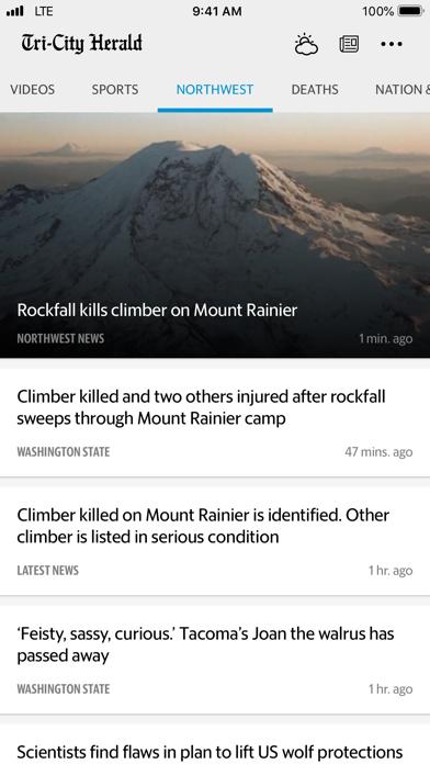 Tri-City Herald News Screenshot