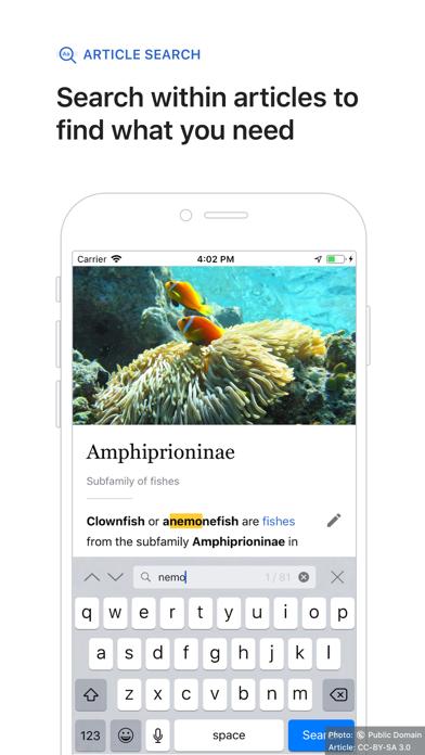 Screenshot for Wikipedia in Jordan App Store