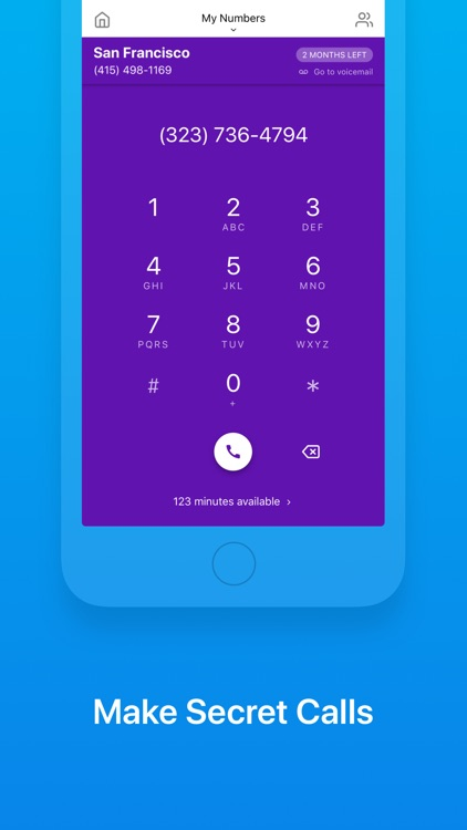 Unlisted - Burner Phone Number screenshot-3