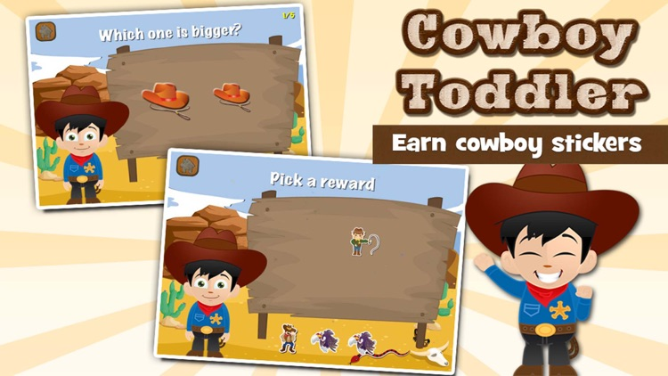 Cowboy Toddler Learning Games screenshot-3