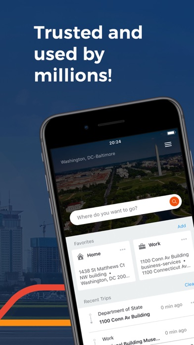 Screenshot for Moovit: Train & Bus Times in United States App Store