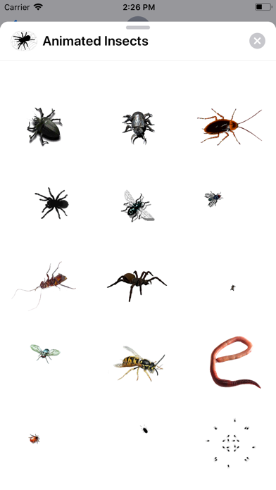 Animated Insects Sticker AppScreenshot of 3