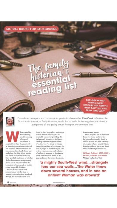 Family Tree Magazine. Screenshot