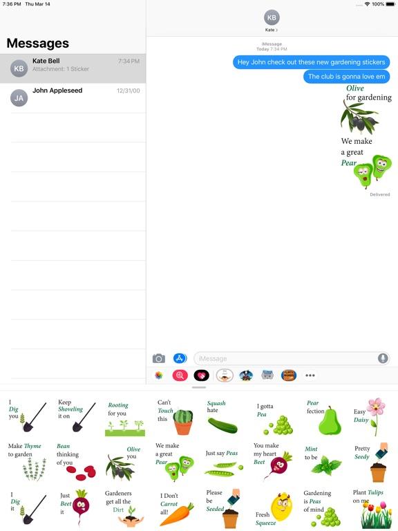 Screenshot #1 for Garden Fun Sticker Pack