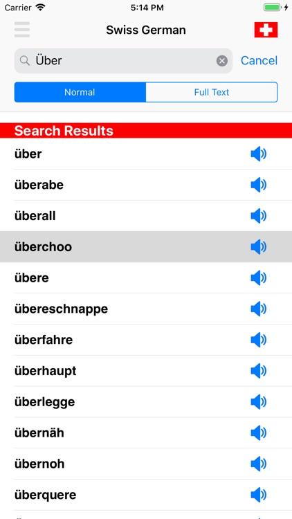 Swiss German Dictionary screenshot-4