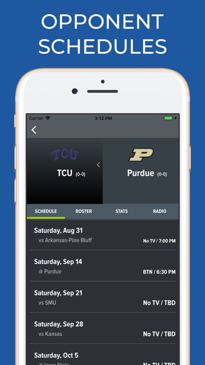 Purdue Football Schedules screenshot-6