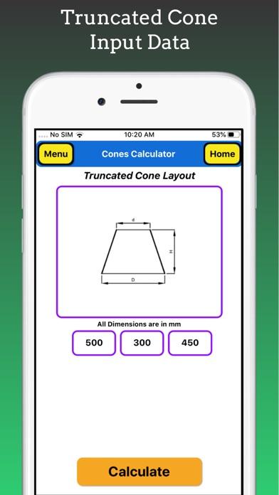 Cones Calculator Pro screenshot 3