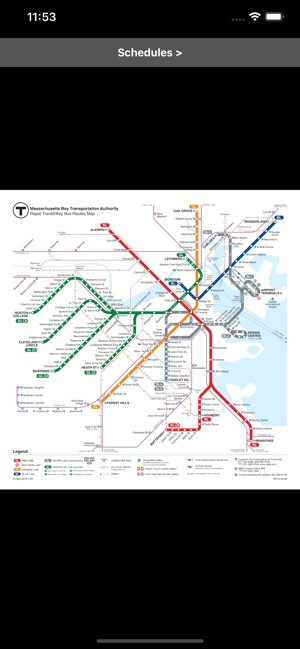 Legal Crossing In Boston Subway Map.Mbta Boston T Transit Map On The App Store