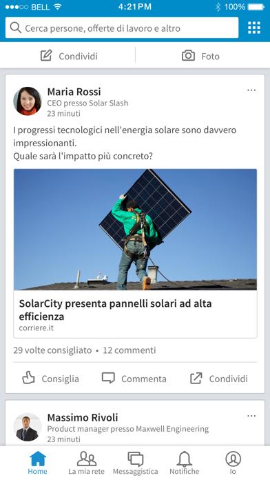 Screenshot for LinkedIn in Italy App Store