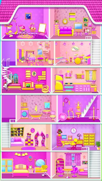 Baby Girls - Doll House Games screenshot-5