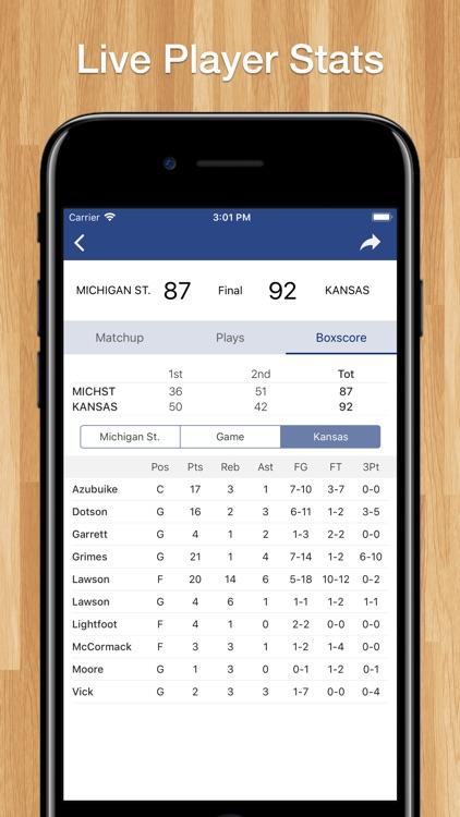 Scores App: College Basketball screenshot-3