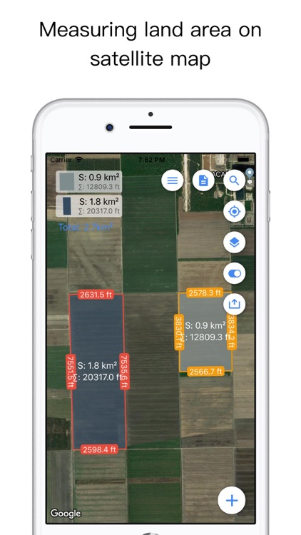 Planimeter Pro for map measure screenshot-0