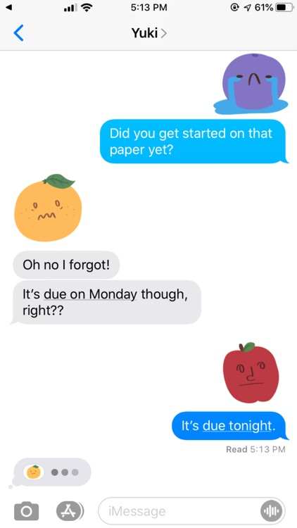 Moody Fruits Stickers screenshot-3