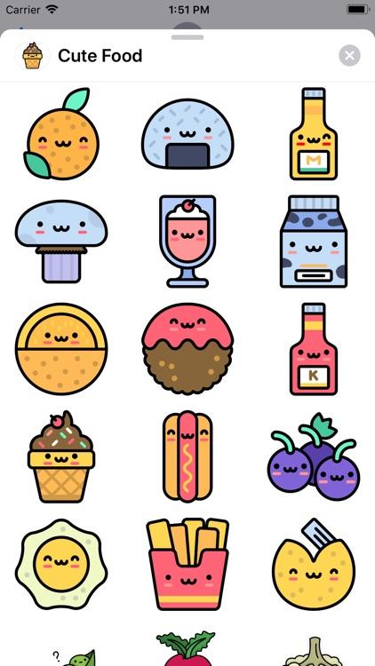 Cute Food Sticker Pack