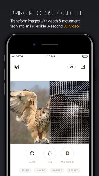 DPTH: AI 3d-photo editor