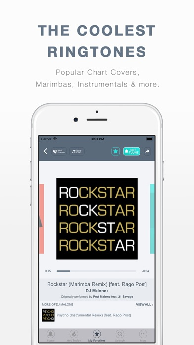 TUUNES™ Ringtones for iPhone Screenshot
