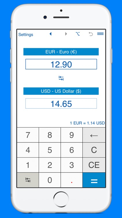 USD and EUR converter screenshot-0