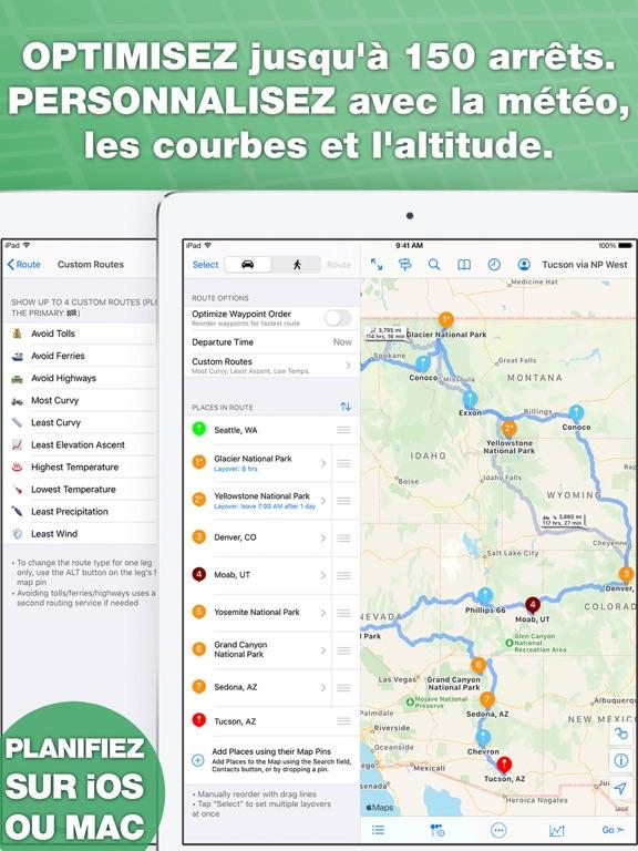 Screenshot #5 pour inRoute planificateur de route