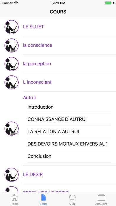Cours de Philosophie screenshot 5