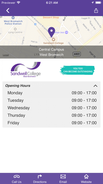 Sandwell College screenshot two