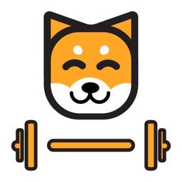 Fitness schattige hond