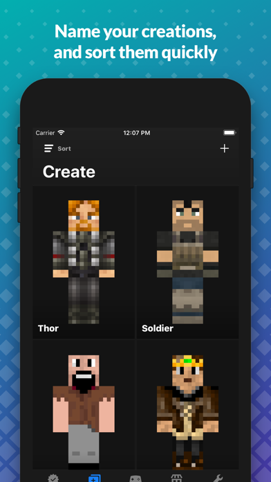 Screenshot for Skin Creator for Minecraft PE in Denmark App Store