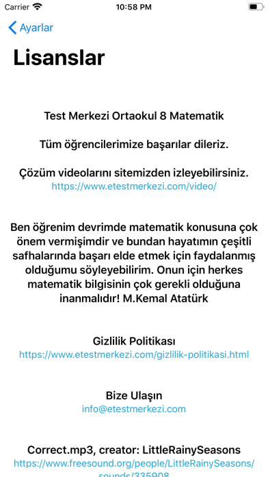 Matematik 8 Screenshot