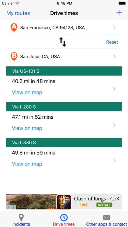 Bay Area Traffic Monitor